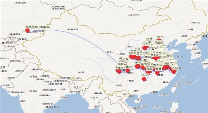 """有网友发现一个很有意思的网站:""""唐宋文学编年地图"""""""